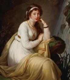 Elisabeth Vigée Le Brun, La Comtesse Tolstoy, 1796, huile sur toile, 137.7 x 104 cm, Collection particulière, dépôt au Musée des beaux-arts du Canada