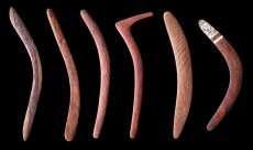 Ensemble de boomerangs. Australie. Photo : MEG, J. Watts